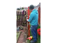 New Fences or Fencing Repairs Landscaping Paving Garden Tidy Ups Turfing Raised Beds Gardener