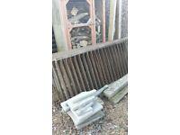 antique 1890s wrought iron railings