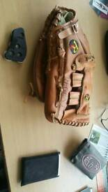 Softball glove and counter