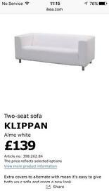 Cream Klippan sofa (Ikea)