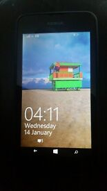 nokia lumia 530 on 3 network no box just charger