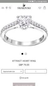Brand new Swarovski heart ring