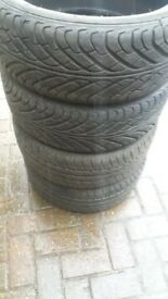 Set 4 x 205 40 17 tyres 7mm nearly new clio corsa golf etc