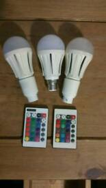 led light changing remote bulbs