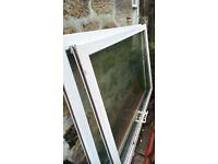 2 x large pvc d/glazed doors/windows