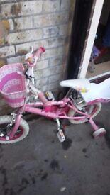 Girls princess bike age 2-4 years