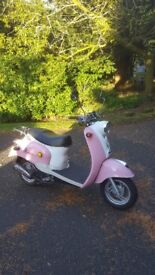 49cc SCOOTER FOR SALE - Nearly new, Znen moped. Low mileage.