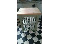 Kitchen trolley / island table butchers block £90 solid wood