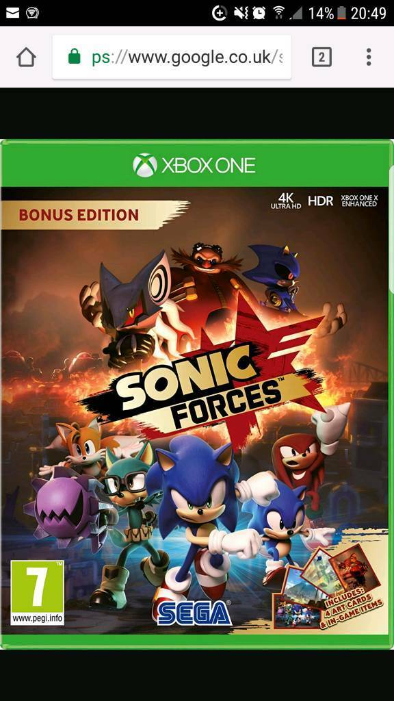 Sonic force xbox one new/sealed