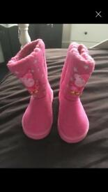 Peppa pig size 6 suede boots