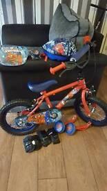 Spiderman bike with accessories