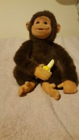 Talking Chimpanzee 10' (26cm) with bananas plush soft toy