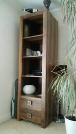 Oak effect display with drawers like new