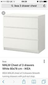 Ikea 3draw chest drawer, 2 seather sofa free