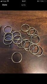 15 metal curtain rings