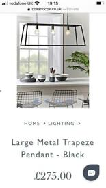 Cox and cox brand new trapeze light fitting metal