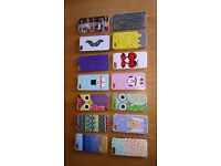 Apple I-Phone 5 Hard Cases Collection Of 14 Different Designs As New Condition