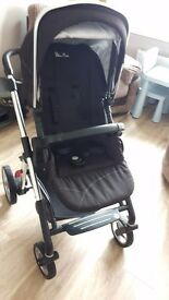 silver cross pioneer pushchair and carry cot