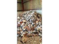 Logs for fire and wood burning stove