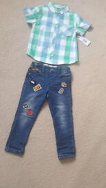 boy outfit clothes with tags 3-4 years