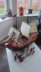 Playmobil Large Pirate ship Perfect condition