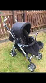 Black Silvercross Buggy and Car Seat