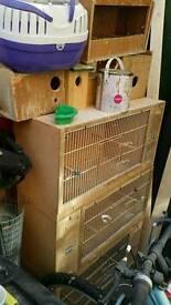 Birds bridding box + bird carrie