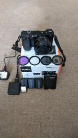 Sony a6000 Mirrorless ICL Camera + accessories