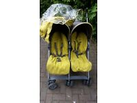 Mamas and papas double pushchair buggy stroller