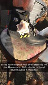 Brand new caterpillar steel toe cap work boots