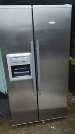 """Free delivery""WHIRLPOOL American Fridge Freezer ""CLEAN USED CONDITION 124.99 Offers considered"