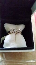 9ct gold engagement ring