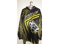 wulfsport race shirt motocross motox quad enduro yellow adult medium