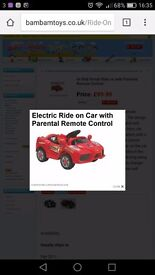 Childs 6v Red Ferrari Ride on with Parental Remote Control