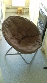 Brown fold away camping/gaming chair