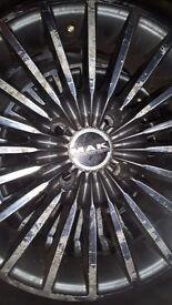 "Mak performance alloy wheels and tyres 15"" 4 stud x 4"