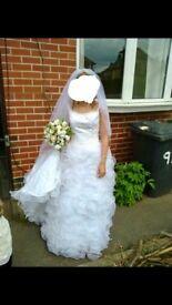 Tom flowers wedding dress size 8