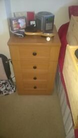 Amalfi Furniture. Single Wardrobe, 2 Bedside cabinets, 3 open shelf units, 1 glass wall unit
