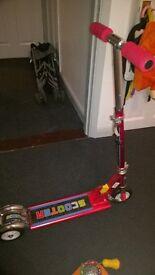 kids adjustable handle scooter