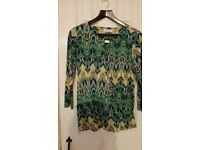 Ladies Top Blouse Green Size 14 Medium New Without Labels