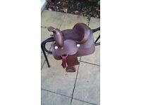 Kids western style saddle