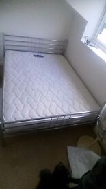 Kingsize Bed Frame and Silentnight mattress