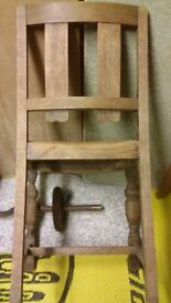 4 Dining chairs oak (?) 1930s (?)