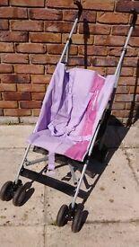 Foldable Light weight Mamu Purple and Pink Girl's stroller