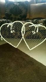 2 x Lovehearts frame/memory holders