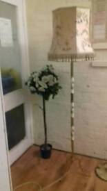 Marble gold lamp with shade