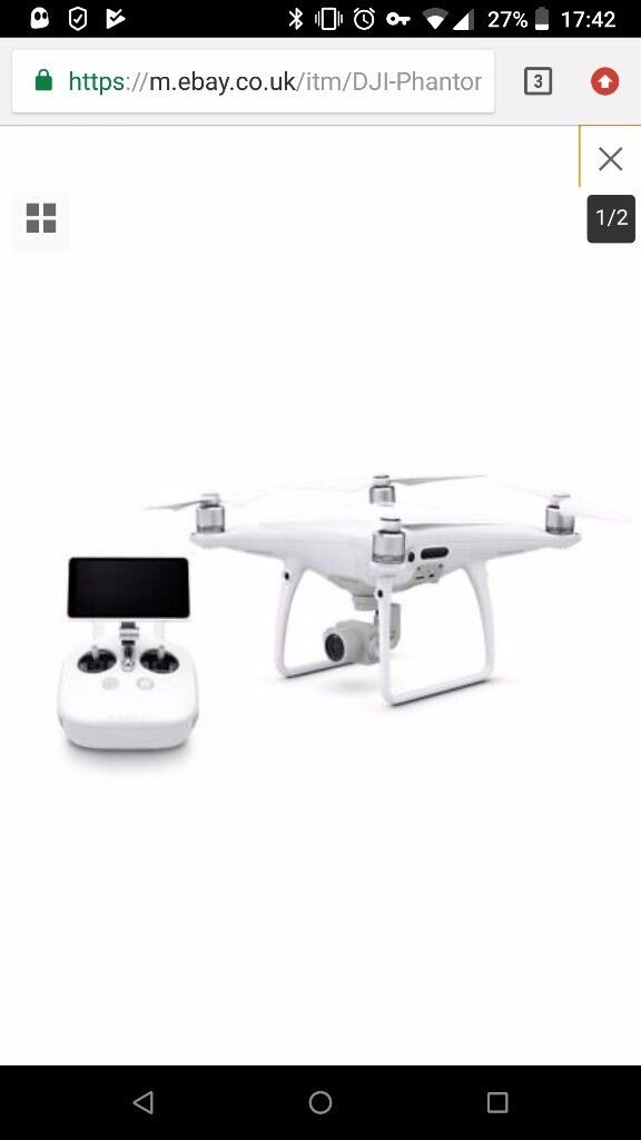 Phantom 4 Pro plus with two batteries