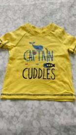 3-6mth captain cuddles t-shirt
