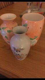 3x Decorative Vases