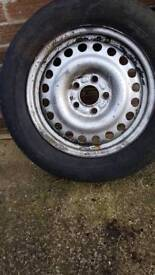 Spare wheel from Ford Transit Connect 5 stud